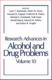 Research Advances in Alcohol and Drug Problems : Volume 10, , 1489916717