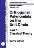 Orthogonal Polynomials on the Unit Circle, Simon, Barry, 0821836757