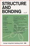 Structure and Bonding, Jørgensen, C. K. and Shriver, D. F., 354003675X