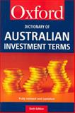 The Dictionary of Australian Investment Terms, Goldsmith, Roger and Osbourne, Peter, 0195516788