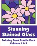 Stunning Stained Glass Coloring Book Double Pack (Volumes 1 And 2), Various, H.R. Wallace Publishing, 1495476782