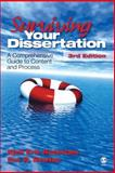 Surviving Your Dissertation : A Comprehensive Guide to Content and Process, Rudestam, Kjell Erik, 1412916798