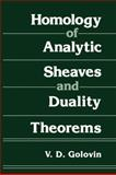 Homology of Analytic Sheaves and Duality Theorems, Golovin, V. D., 1468416790