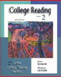 College Reading with the Active Critical Thinking Method, Maker, Janet and Lenier, Minnette, 0155066811