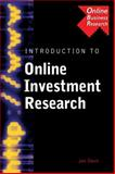Introduction to Online Investment Research, Interactive Business Research Staff and Davis, Jan, 0538726814