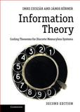 Information Theory : Coding Theorems for Discrete Memoryless Systems, Csiszár, Imre and Körner, Jànos, 0521196817
