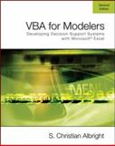 VBA for Modelers : Developing Decision Support Systems Using Microsoft Excel, Albright, S. Christian, 0495106836