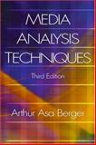 Media Analysis Techniques, Berger, Arthur Asa, 1412906830