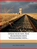 Sprachliches Aus Rumänischen Volksmärchen, Jan Urban Jarník, 1278176845