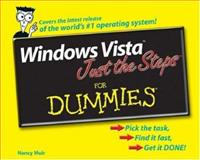 Windows Vista Just the Steps for Dummies, Nancy C. Muir, 0471786853