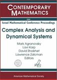 Complex Analysis and Dynamical Systems : Proceedings of an International Conference on Complex Dynamics and Dynamical Systems, June 19-22, 2001, ORT Braude College, Karmiel, Israel, Agranovskiaei, M. L., 0821836862