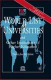 World List of Universities and Other Institutions of Higher Education, International Association of Universities Staff, 1403906874