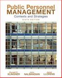 Public Personnel Management : Contexts and Strategies, Klingner, Donald E. and Nalbandian, John, 0136026885