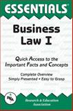 Business Law I Essentials, Research & Education Association Editors and Keller, William D., 0878916903