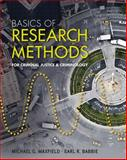 Basics of Research Methods for Criminal Justice and Criminology, Babbie, Earl R. and Maxfield, Michael G., 1111346917