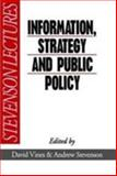 Information, Strategy and Public Policy, Vines, 0631176934
