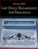 McGraw-Hill's Law Office Management for Paralegals, Schaffer, Lisa and Wietecki, Andrew, 0073376949