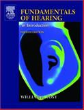 Fundamentals of Hearing 9780127756950