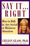 Say It.... Right, Lillian Glass, 0399516999