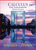 Calculus : Early Transcendentals, Edwards, C. Henry and Penney, David E., 0130937002