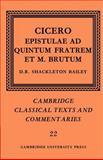 Epistulae Ad Quintum Fratrem et M. Brutum 9780521607001