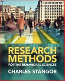 Research Methods for the Behavioral Sciences, Stangor, Charles, 1285077024