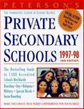 Peterson's Private Secondary Schools, 1997-98, Peterson's Guides Staff, 1560797029