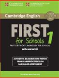 Cambridge English First for Schools 1 for Revised Exam from 2015 Student's Book with Answers, , 1107647037