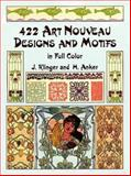 422 Art Nouveau Designs and Motifs in Full Color, Julius Klinger and H. Anker, 0486407055