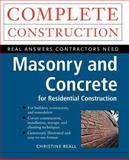 Masonry and Concrete, Beall, Christine, 0070067066