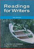 Readings for Writers, McCuen-Metherell, Jo Ray and Winkler, Anthony C., 1111837066
