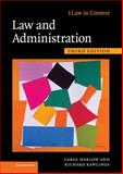 Law and Administration, Harlow, Carol and Rawlings, Richard, 0521197074