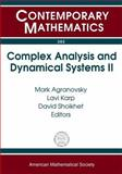 Complex Analysis and Dynamical Systems II, Zalcman, Lawrence Allen, 0821837095