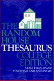 The Random House College Thesaurus, RH Disney Staff, 0679727108