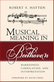 Musical Meaning in Beethoven : Markedness, Correlation, and Interpretation, Hatten, Robert S., 0253217113
