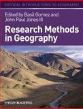 Research Methods in Geography, Jones, Margaret, 1405107111