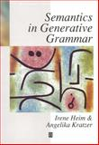 Semantics in Generative Grammar
