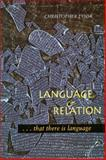 Language and Relation, Christopher Fynsk, 0804727147