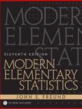 Modern Elementary Statistics, Freund, John E., 0130467170