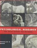 Psychological Research, Mook, Douglas, 039397717X