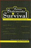 Seven Statements of Survival : Conversations with Dance Professionals, Celichowska, Renata, 1404297200