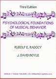 Psychological Foundations of Musical Behavior 9780398067205
