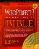 WordPerfect for Windows 95 Bible, Harris, Stephen E., 156884722X