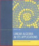 Linear Algebra and Its Applications, David C. Lay, 0536827222