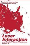 Laser Interaction and Related Plasma Phenomena, , 0306437228