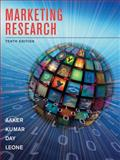 Marketing Research, Aaker, David A. and Day, George S., 0470317256