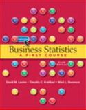 Business Statistics, Levine, David M. and Krehbiel, Timothy C., 0132807262