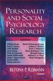 Personality and Social Psychology Research, Bettina P. Reimann, 1600217354
