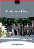 Professional Ethics, City Law School Staff, 0199657378
