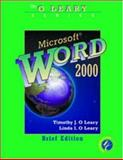 Microsoft Word 2000, O'Leary, Timothy J. and O'Leary, Linda I., 0072337389